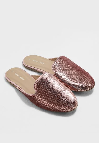 Jarty Sequin Mule Slip On