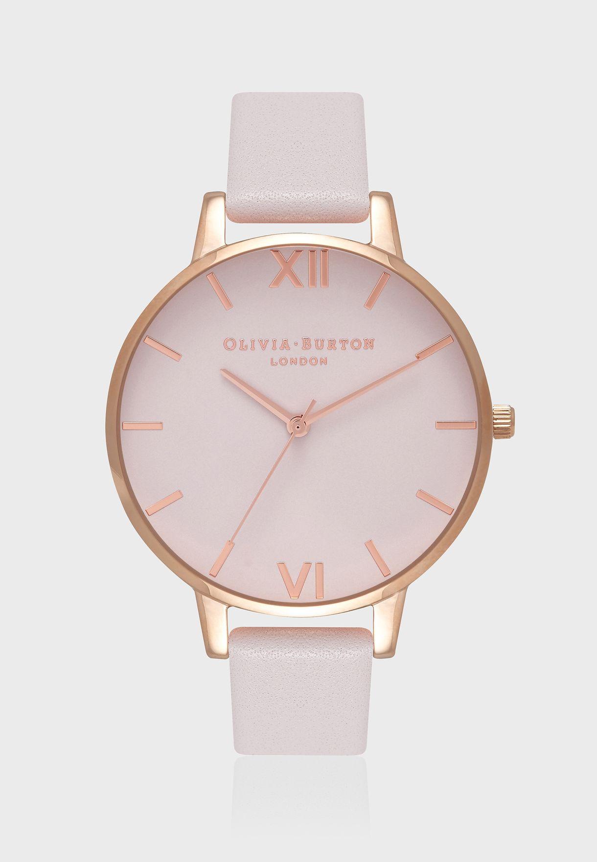 7d20613972bef Shop Olivia Burton rosegold Blush Dial Watch OB16BD95 for Women in ...