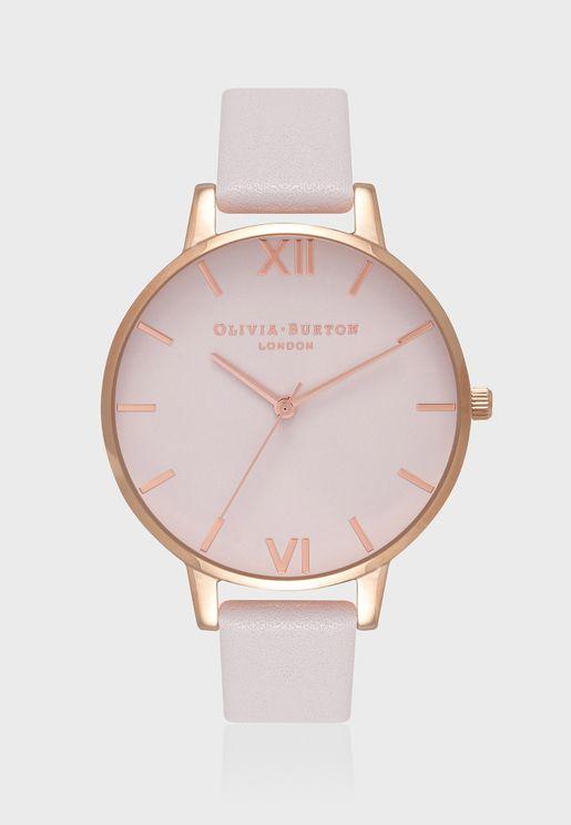 ساعة جلد اصلي عصرية