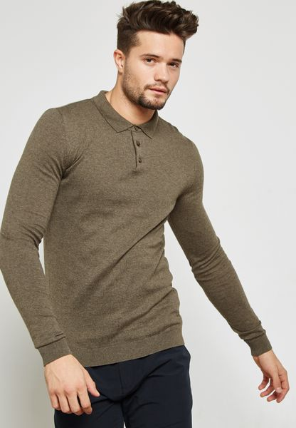 Muscle Fit Knitted Polo