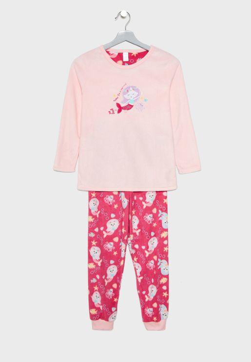 Kids Mermaid Pyjama Set