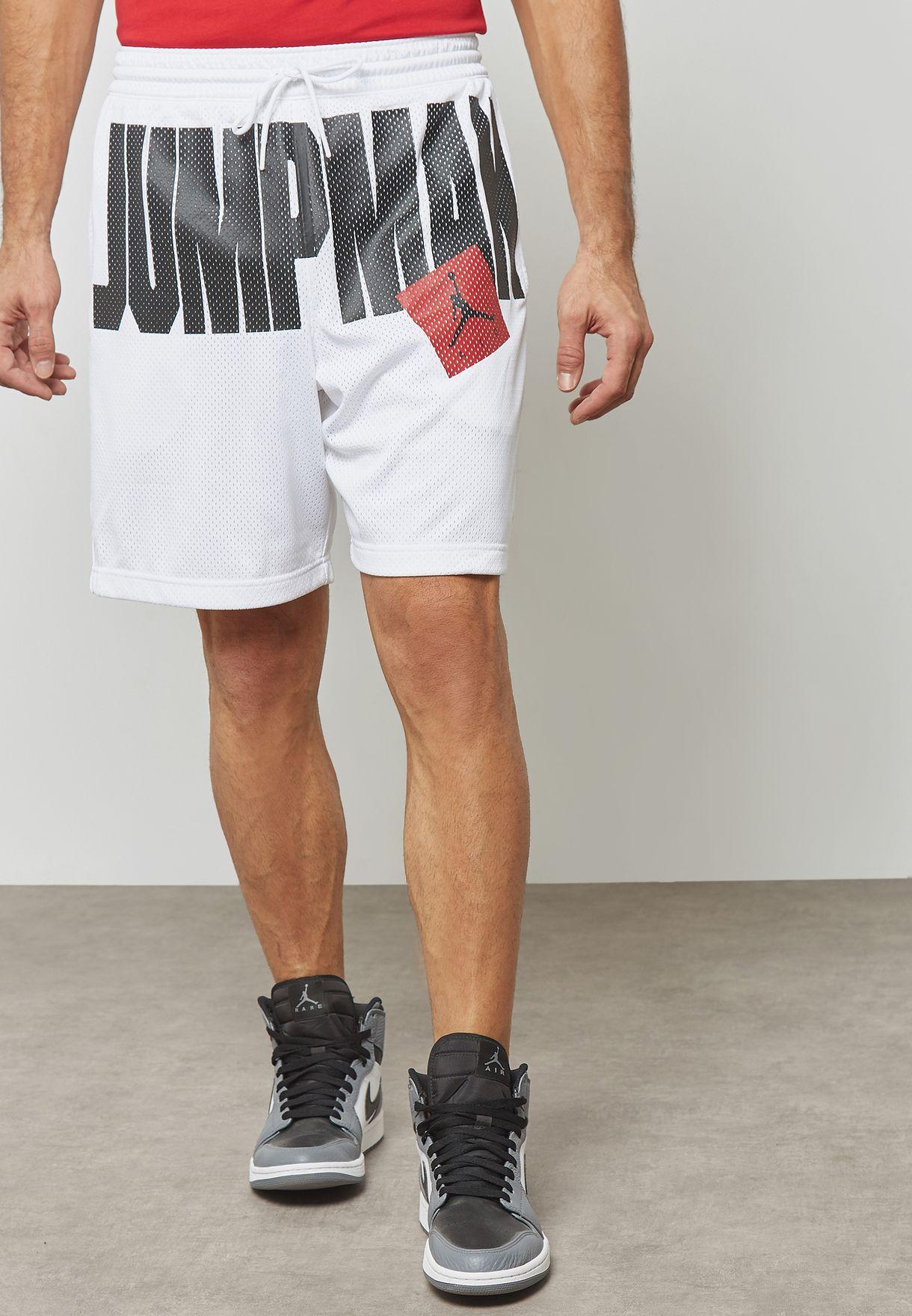 Hola defecto perder  Buy Nike white Jordan Jumpman Air Mesh Shorts for Men in MENA, Worldwide |  AA4607-100