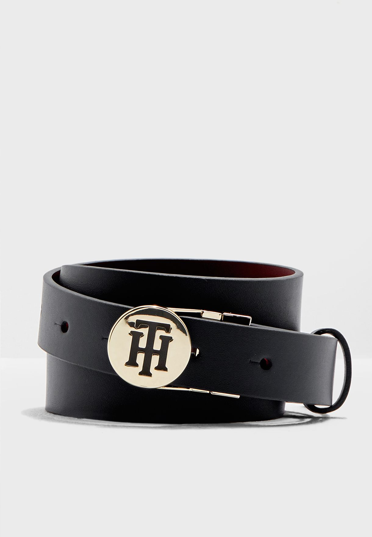 4a7f2649d897 Shop Tommy Hilfiger navy Round Buckle Reversible Belt AW0AW05879 for ...