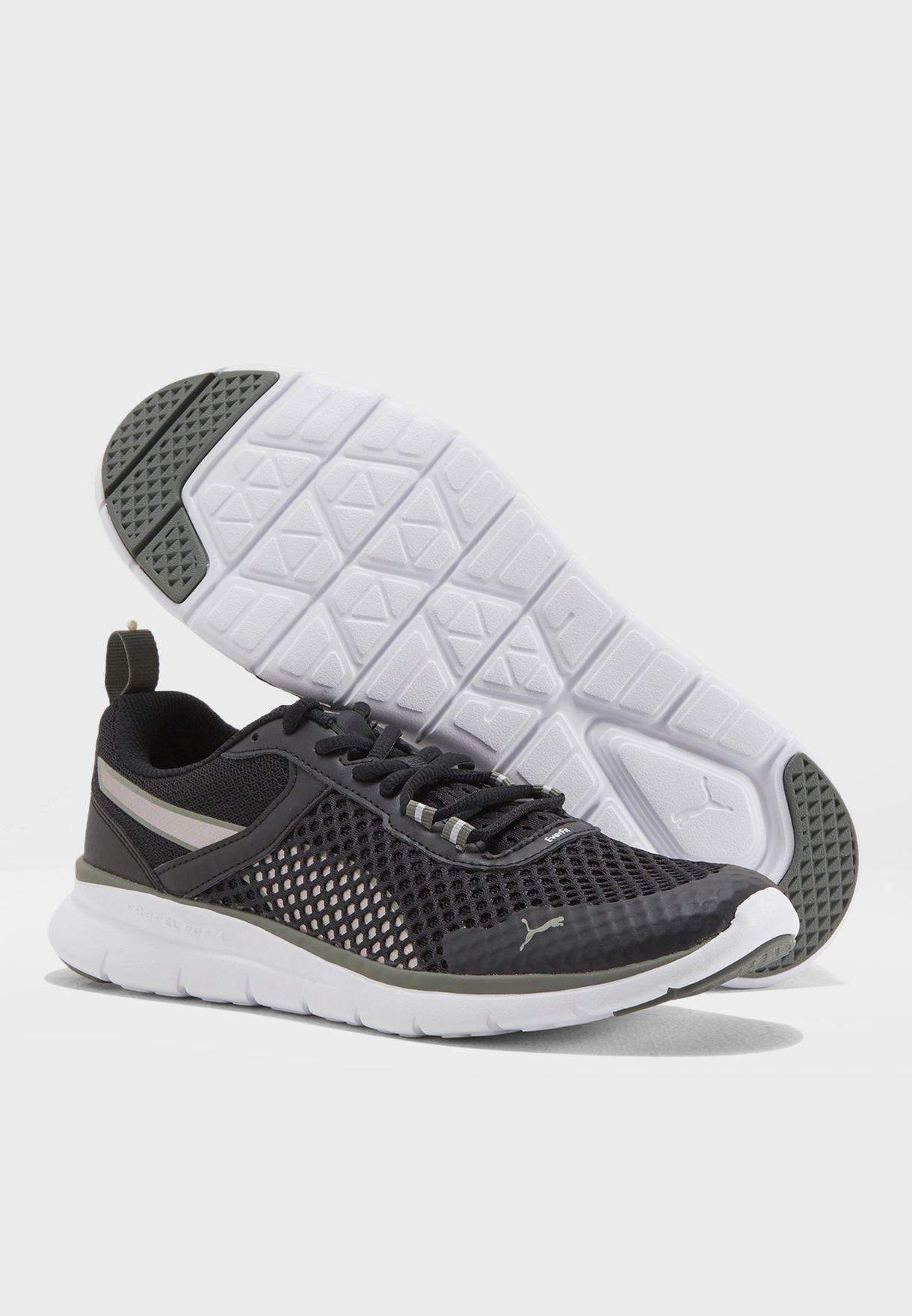 Gray Violet-Puma White PUMA Flex Essential Pro Running Shoes