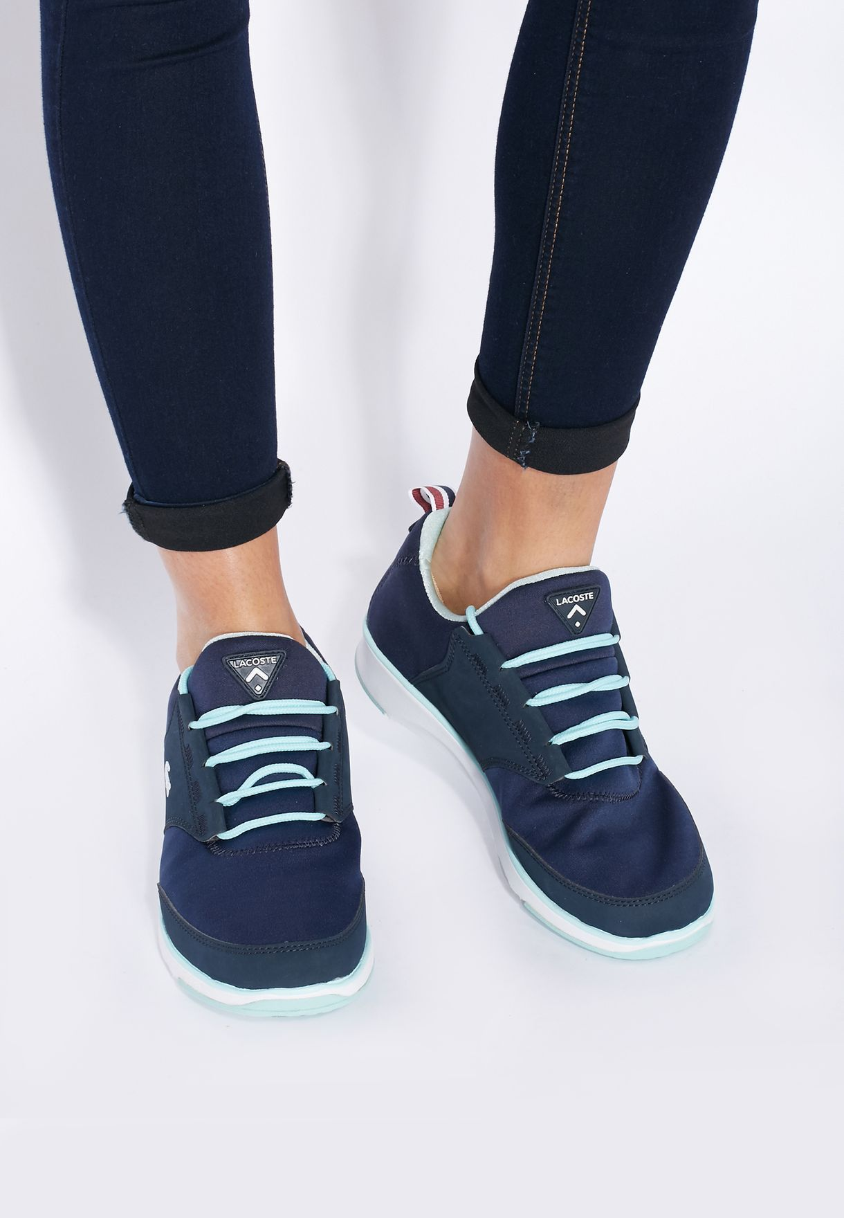 d9693ded2 Shop Lacoste blue L. Ight TRC Sneakers 30SPW0006-DB4 for Women in ...