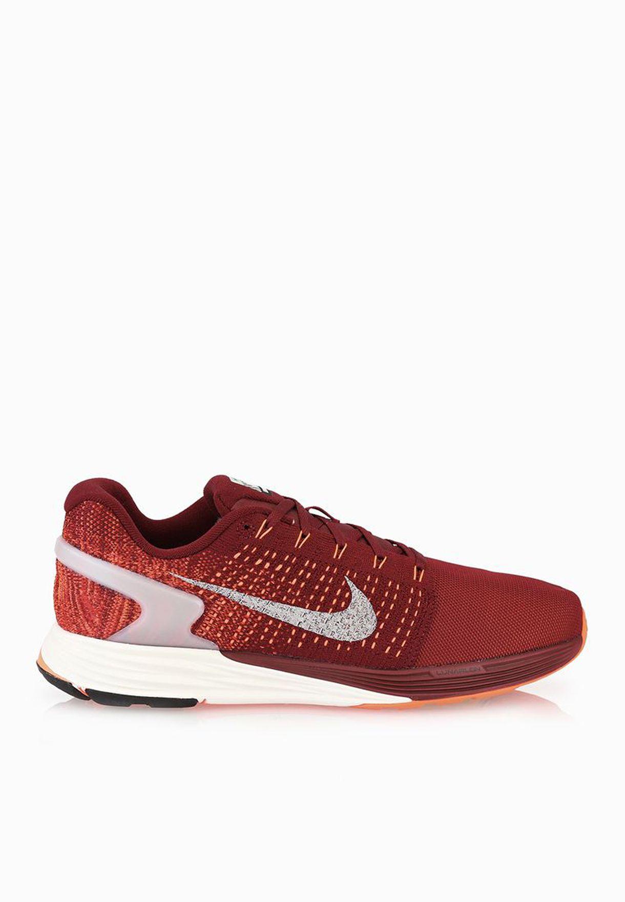 4af3e4d5165 Shop Nike red Lunarglide 7 Flash 803566-600 for Men in UAE ...