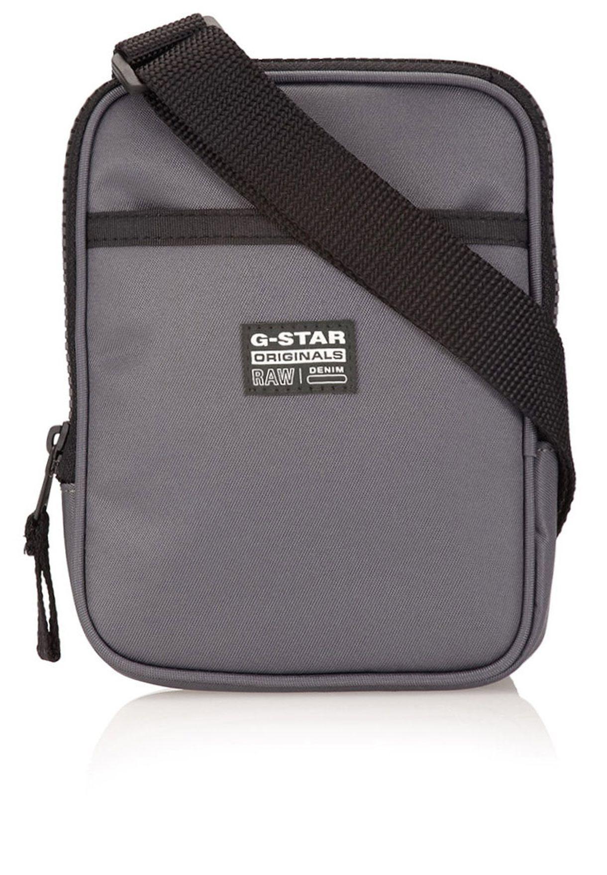 15ce8e5355cfa تسوق حقيبة رجالية بحمالة طويلة ماركة جي ستار رو لون رمادي في قطر ...
