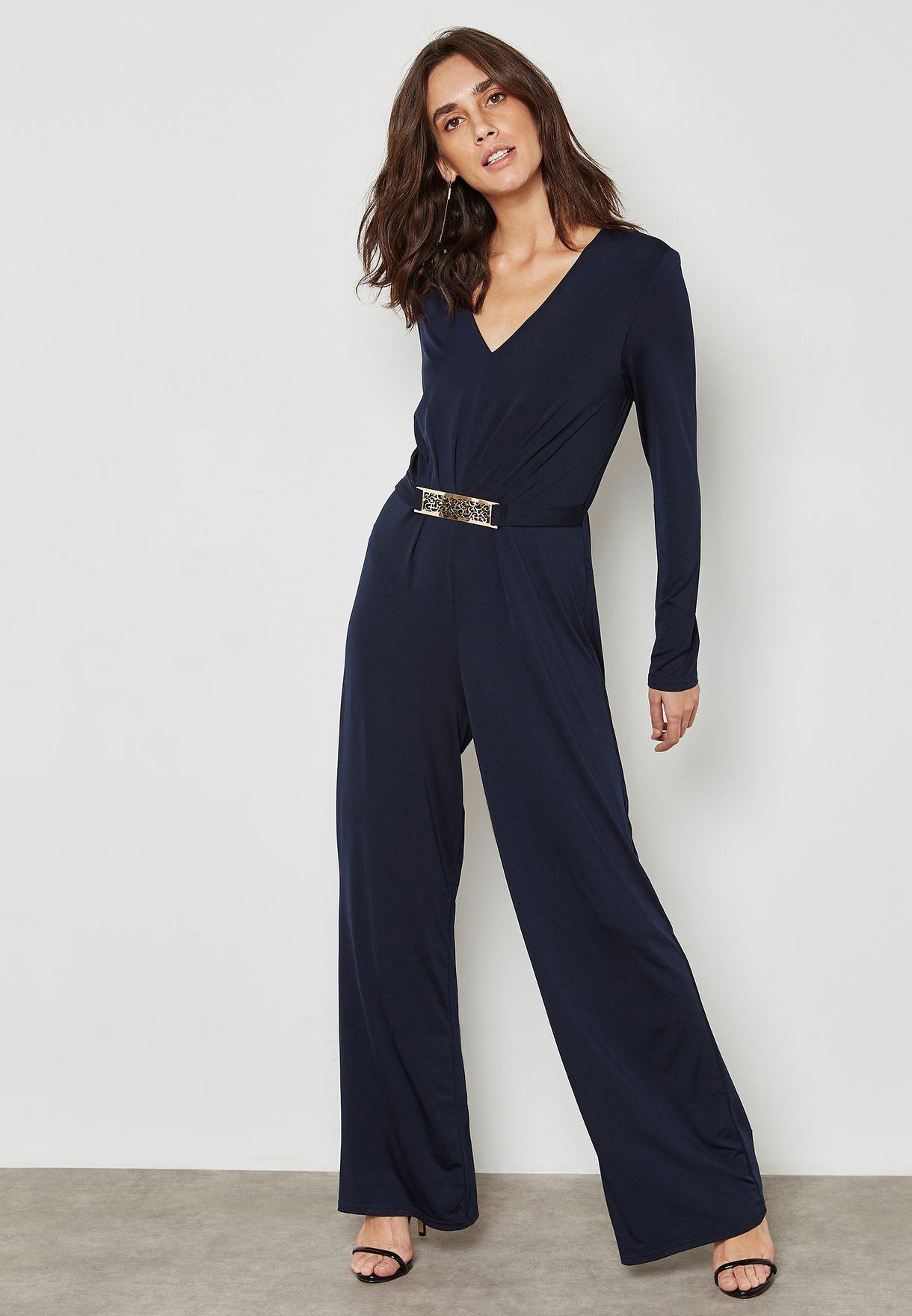 Belted Wrap Jumpsuit