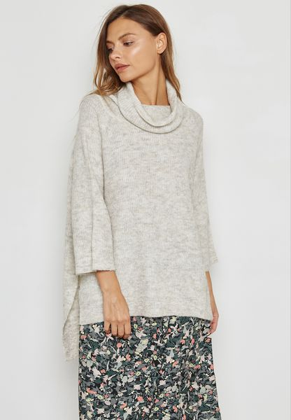Oversized High Neck Top
