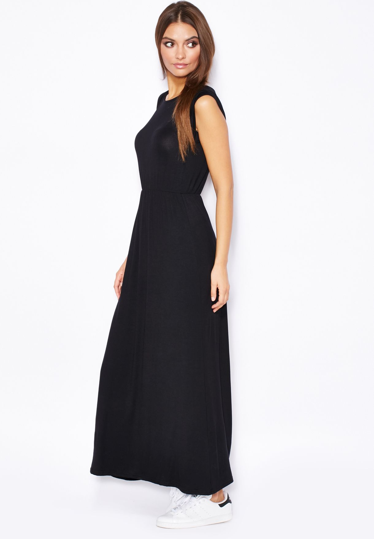 97c0831eb5b Shop Ella black Turn Up Sleeve Maxi Dress for Women in UAE - EL314AT30VUV