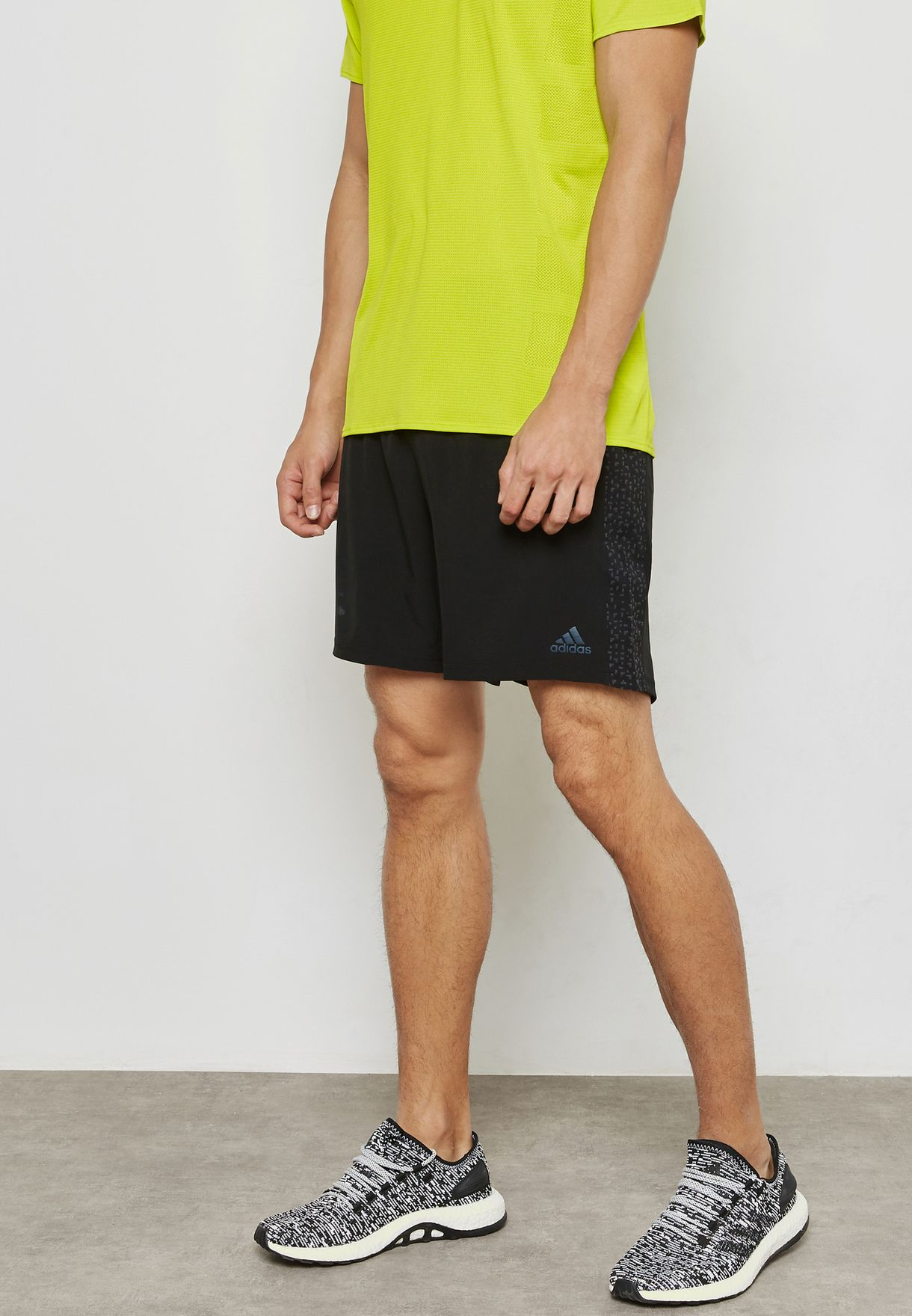 repentino manguera Firmar  Buy adidas black Supernova Shorts for Men in MENA, Worldwide | BQ7239
