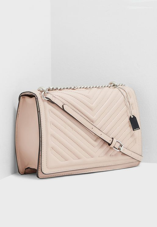 Chevron Quilted Crossbody