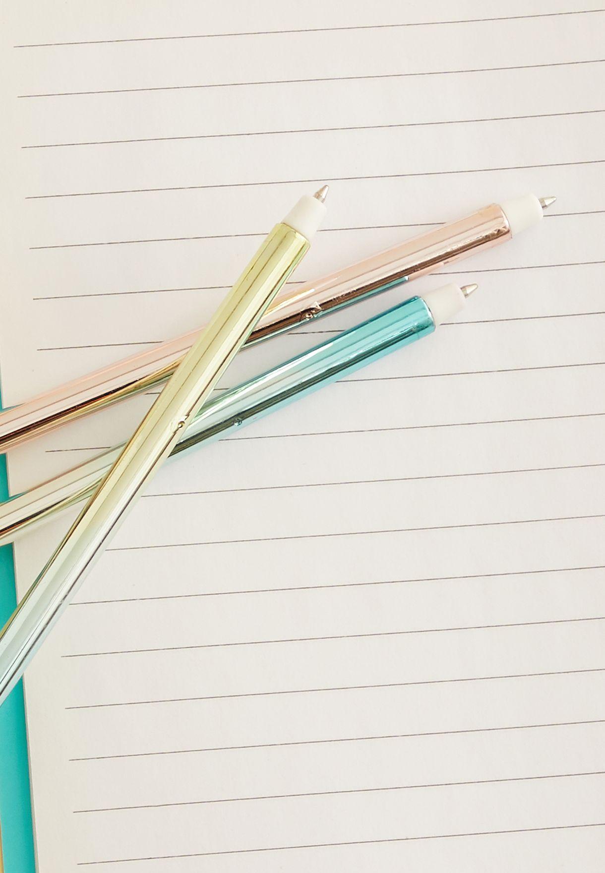 مجموعة أقلام حبر جاف عدد 3