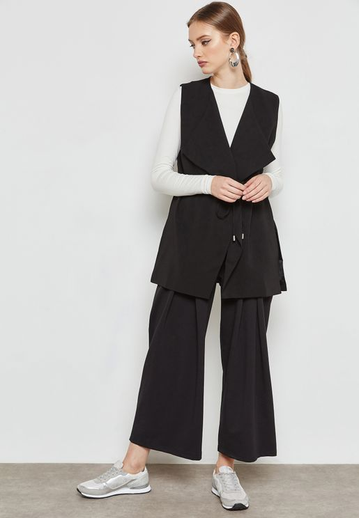 Wide Leg Detail Pants