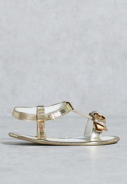 Me Exclusive Nbg Gold Sandal Crib Shoe