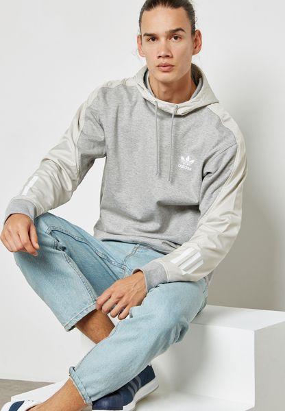Tienda adidas Originals gris Doom Block Hoodie bk2771 para hombres en