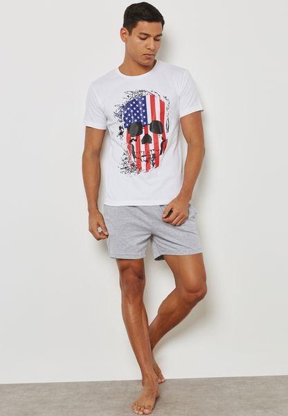 Skull USA Nightwear Set