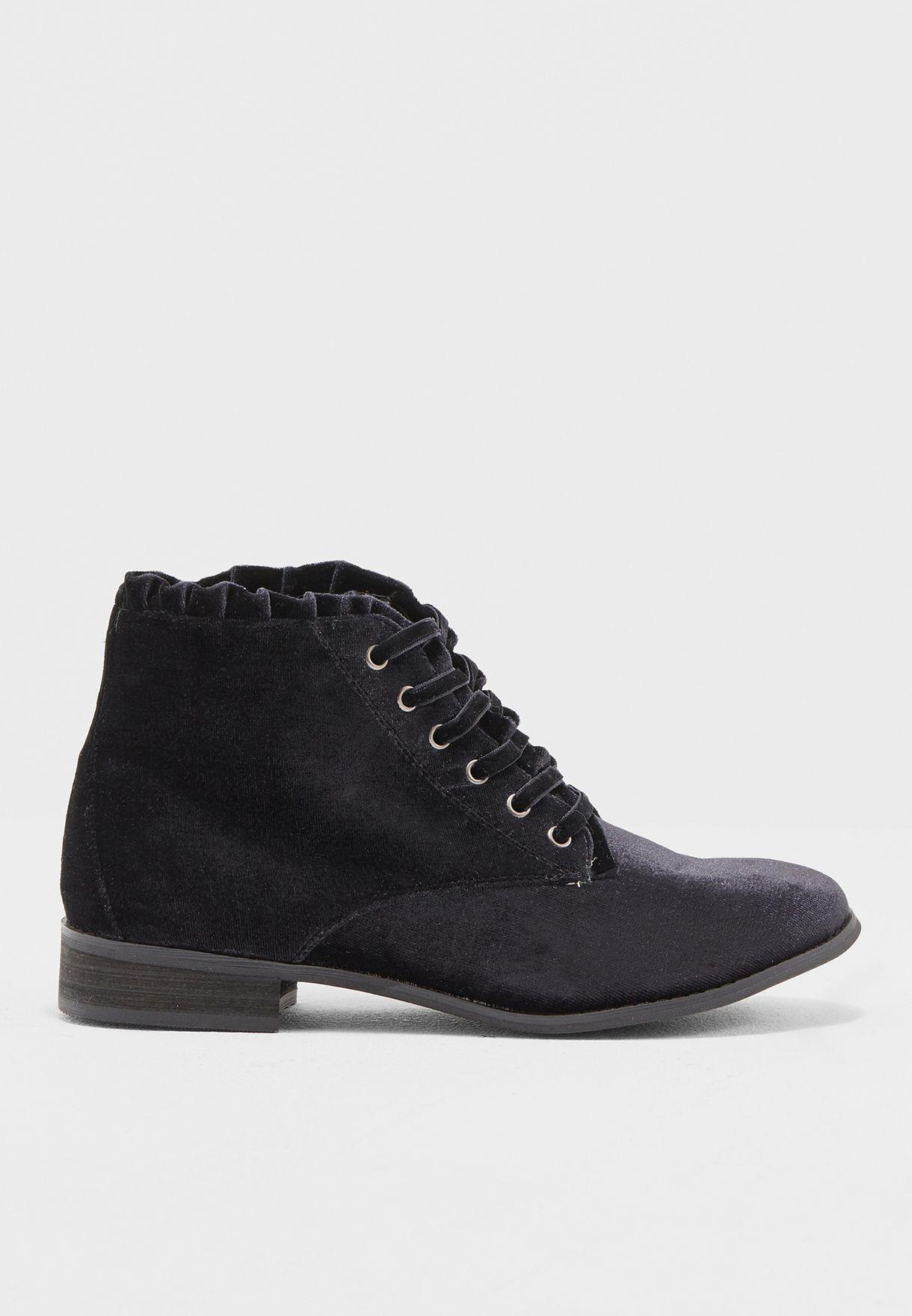 Black Velvet Magnolia Boots