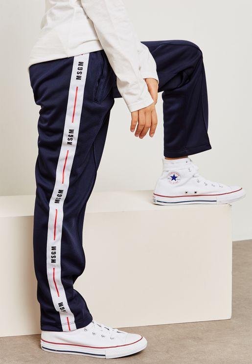 Kids Side Stripe Logo Trousers