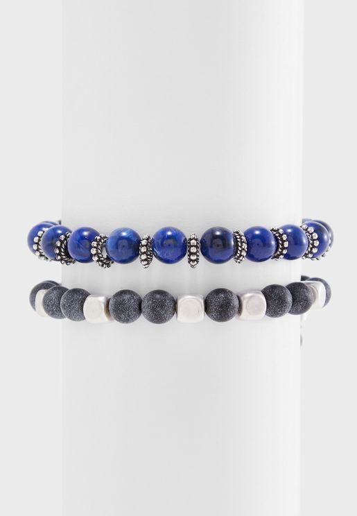 2 Pack Beaded Bracelets