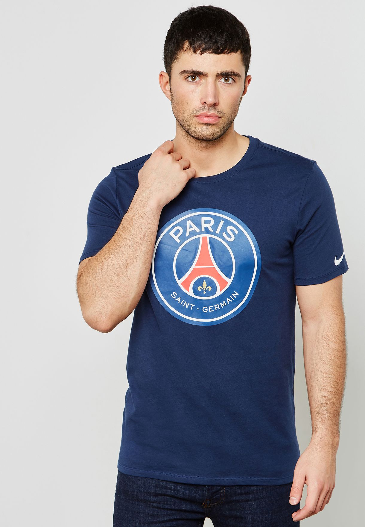 Shop Nike navy PSG Crest Evergreen T-Shirt 898625-410 for Men in Qatar -  NI727AT30KEJ 1ad8e0148