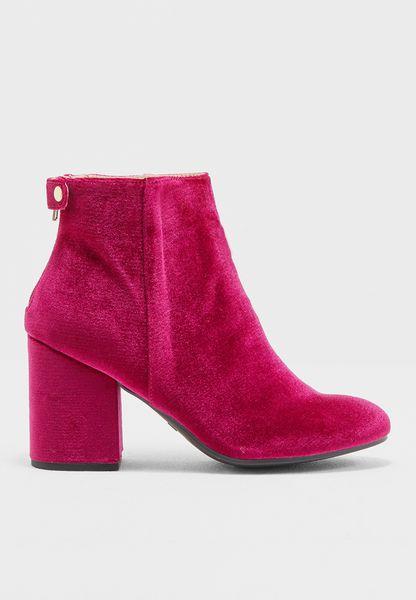 Velvet Ankle Boot