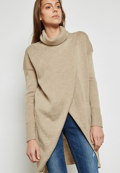 Roll Neck Longline Sweater