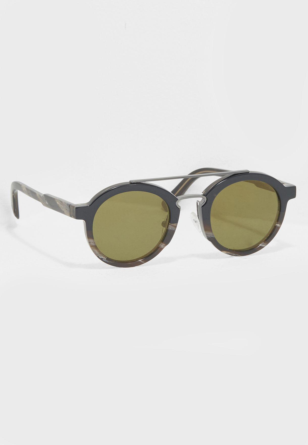 e06095bd51e Shop Salvatore ferragamo multicolor Round Sunglasses SF845S for Men in  Kuwait - SA277AC20LOL