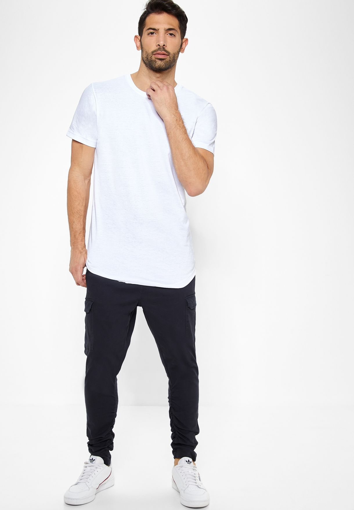 Long Line Crew Neck T-Shirt