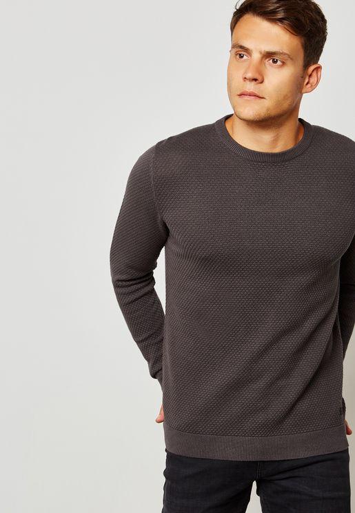Brick Crew Neck Sweaters