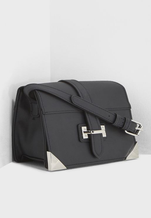 Structured Buckle Crossbody