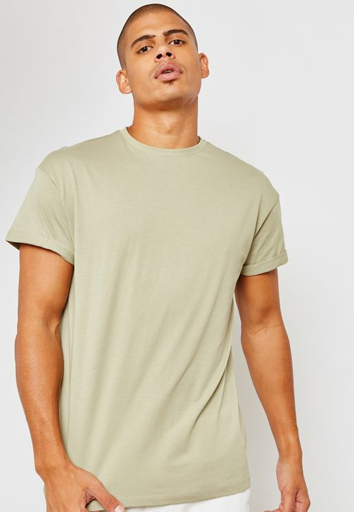 Essential High Roll Sleeves T-Shirt