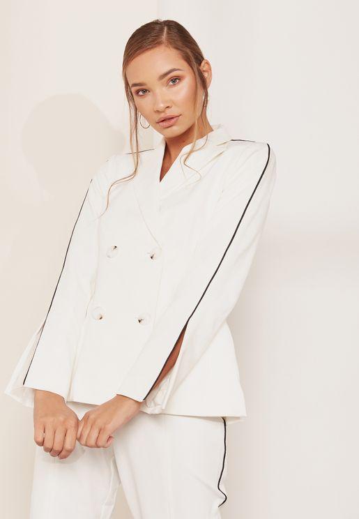 Mila Slit Sleeve Blazer