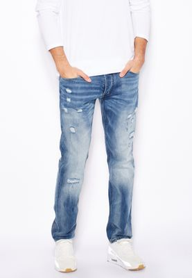 Jack & Jones Tim Slim Fit Mid Wash Jeans
