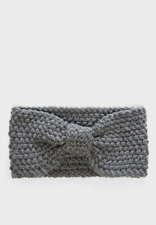 ربطة رأس صوف محبوكة