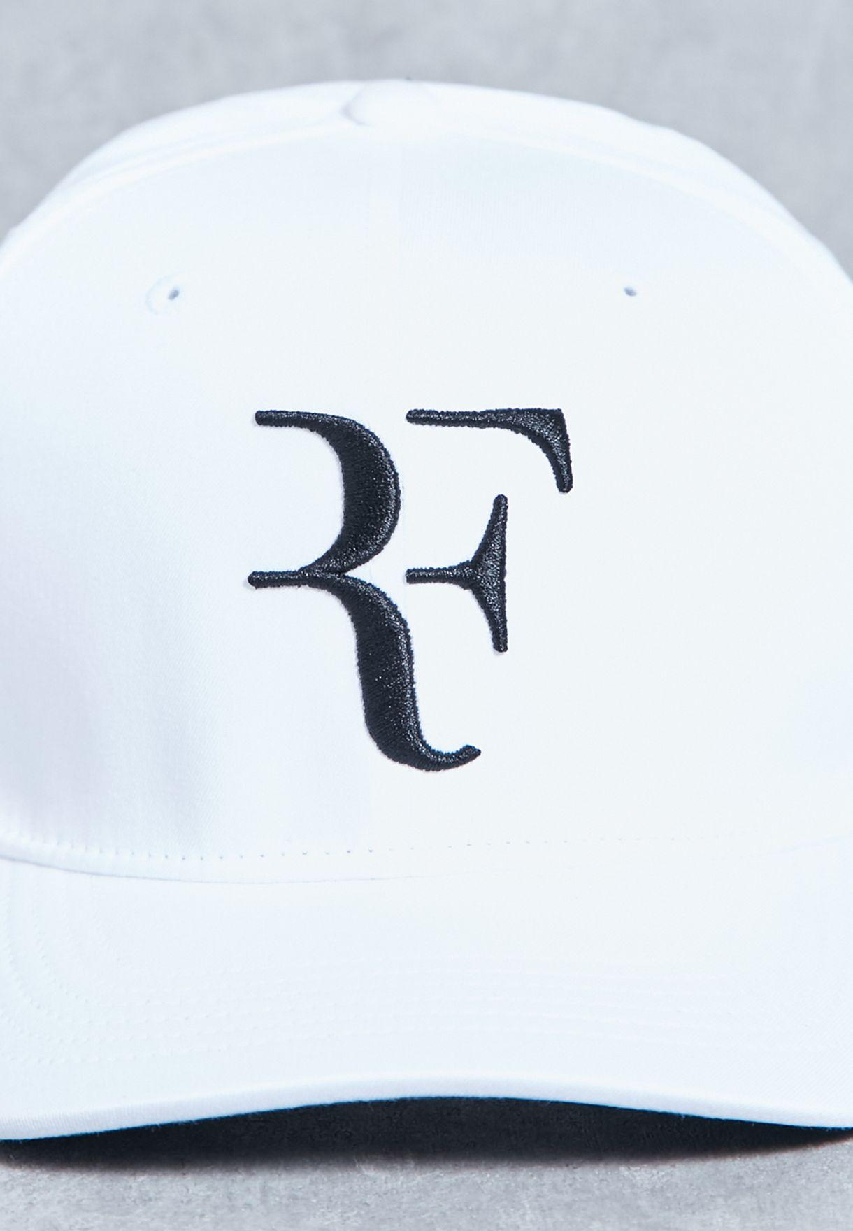 635c188c Shop Nike white AeroBill Roger Federer Cap 868579-100 for Men in ...