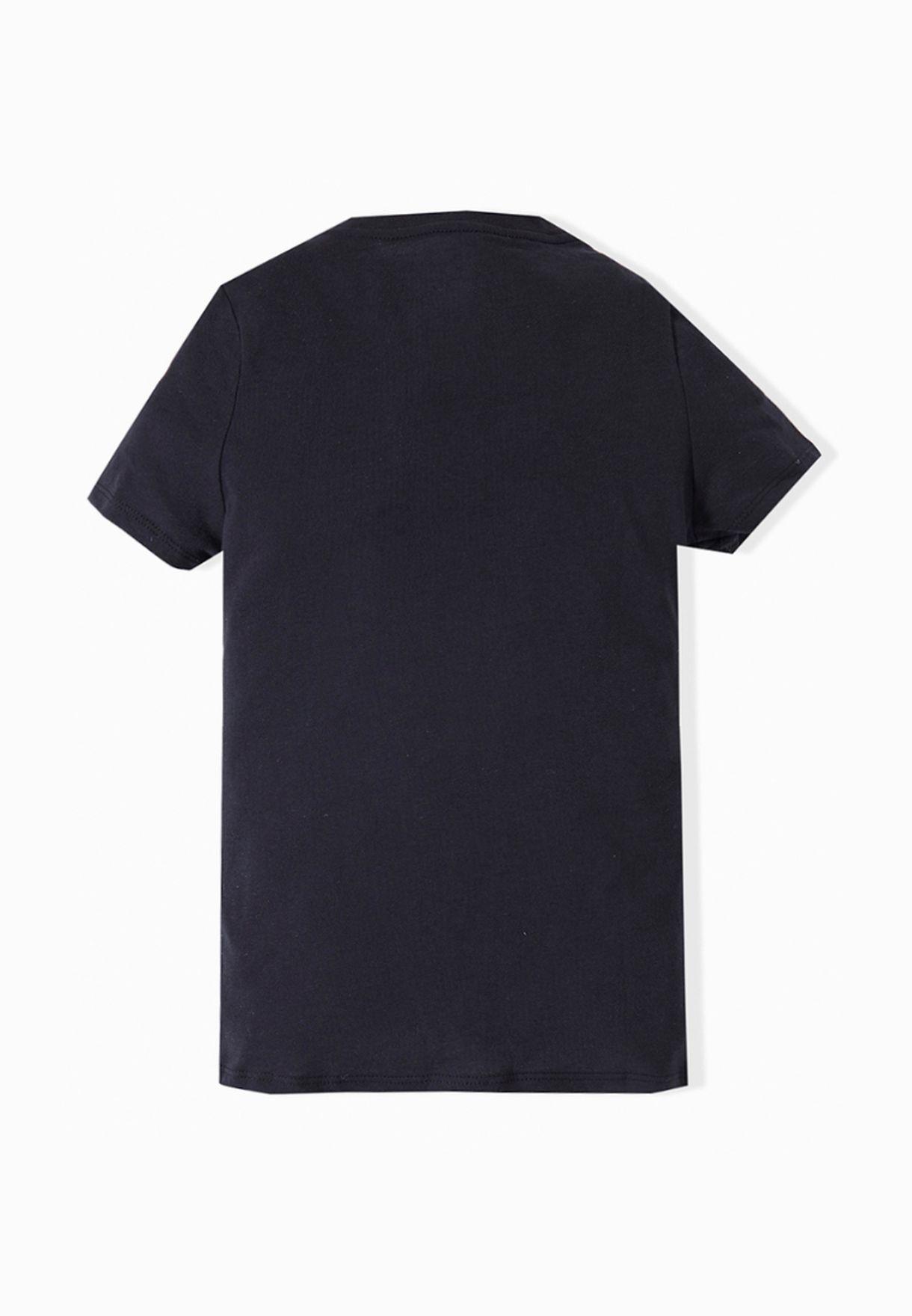 e88d24fe Shop Nike black Youth Free T-Shirt 709133-010 for Kids in Kuwait ...
