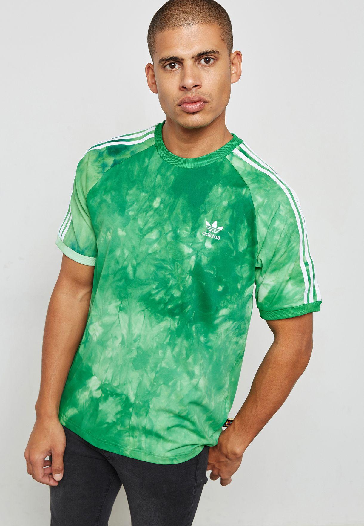 f71226cbf1822 Shop adidas Originals green Pharrell Williams Hu Holi T-Shirt CW9100 ...
