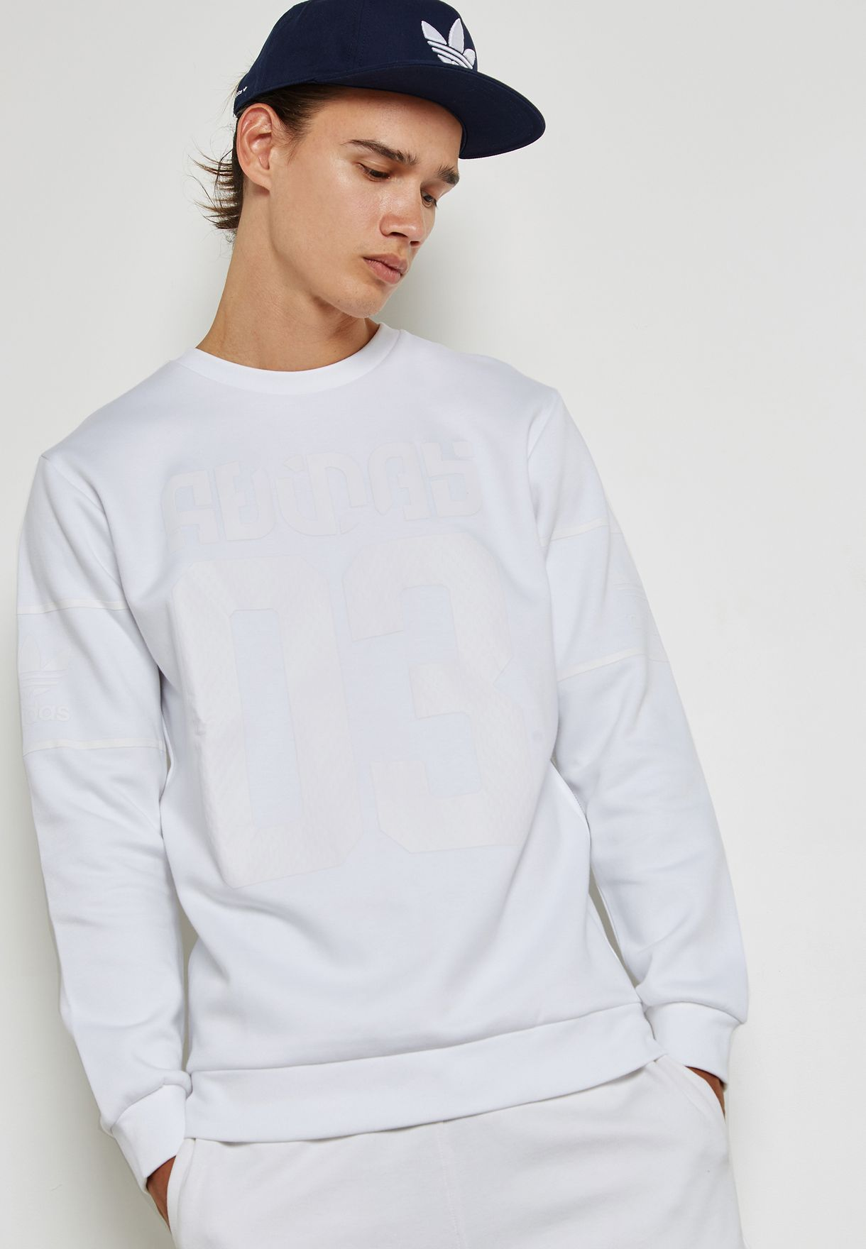 5cc2b4955 Shop adidas Originals white Winter Sweatshirt BS2711 for Men in UAE ...
