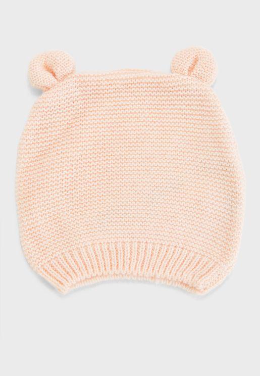 Infant Pom Pom Detail Beanie