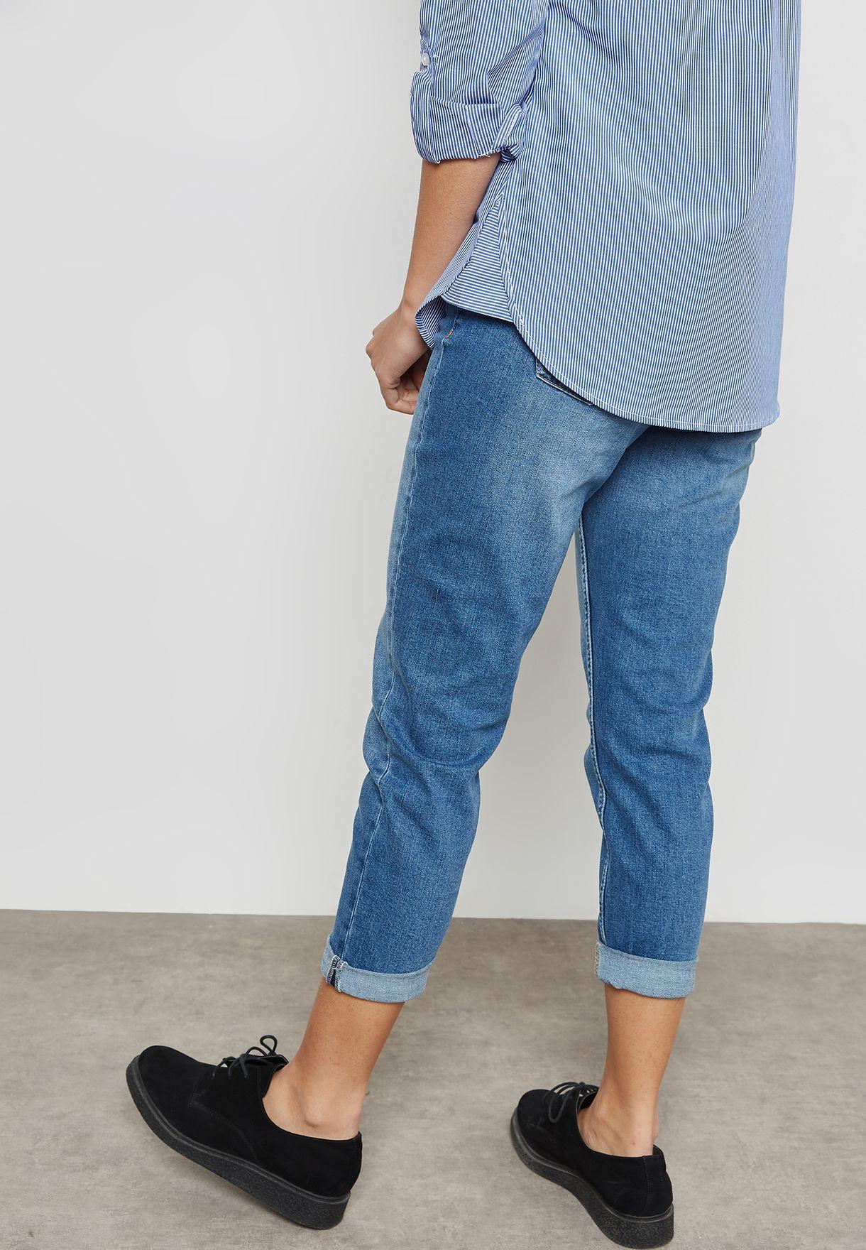 Ashley Mid Wash Straight Leg Jeans