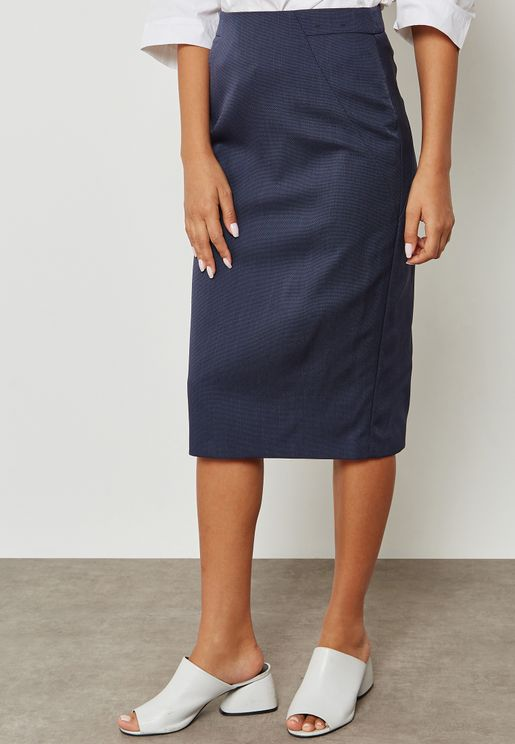 Back Slit Pencil Skirt