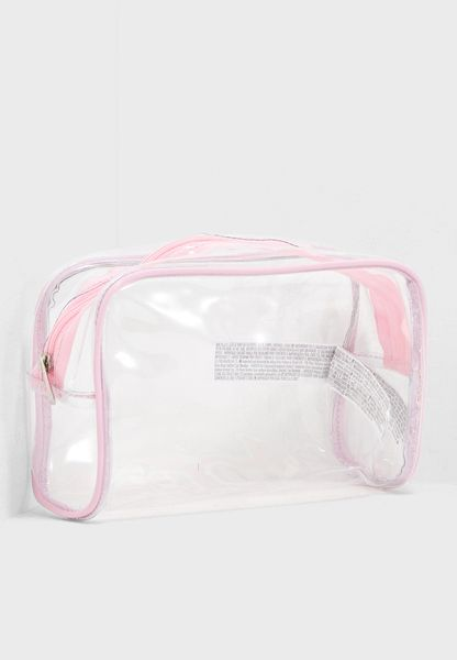 Contrast Clear Makeup Bag