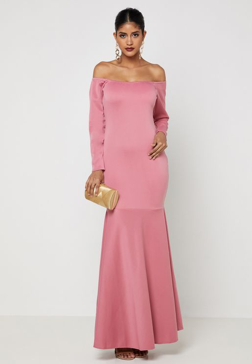 Bardot Fishtail Maxi Dress