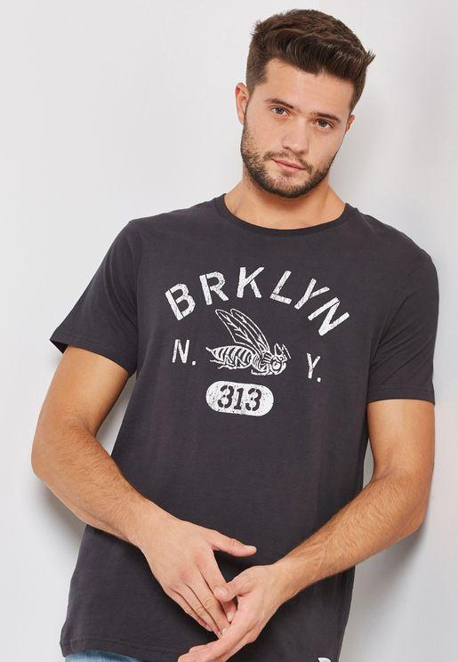 Brooklyn Washed Crew Neck T-Shirt
