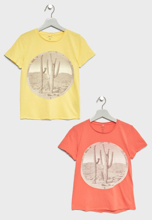 Kids 2 Pack Organic Cotton T-Shirts