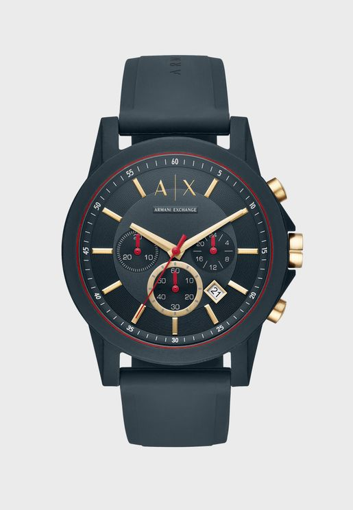 AX1335 Dress Leather Watch