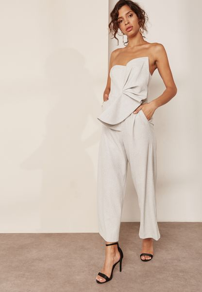 Bow Detail Bandeau Jumpsuit