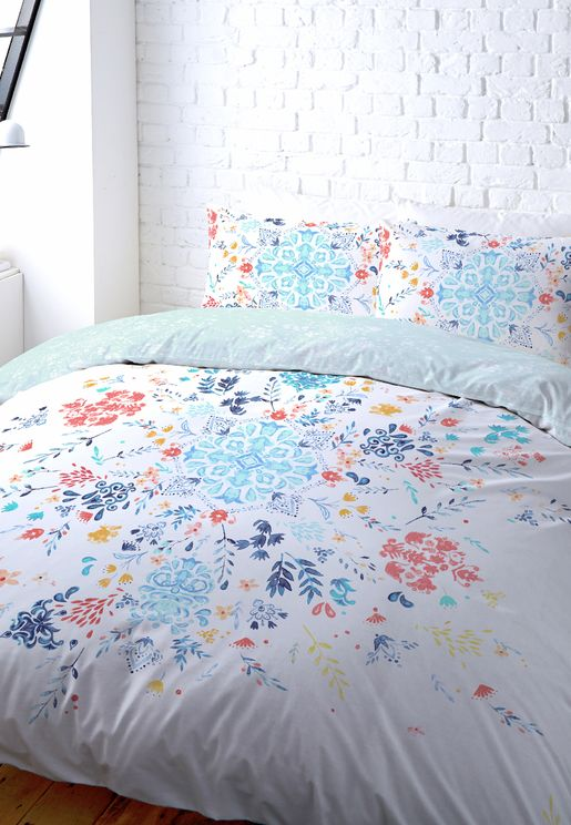 Double Bed Set - Floral Tile