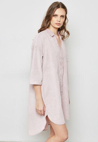 Cord Shirt Dress